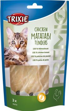 TRIXIE PREMIO Chicken Matatabi Tenders, 3 Stück / 55g (100g / 3,07€)