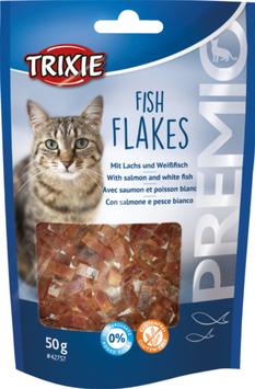 TRIXIE PREMIO Fish Flakes, mit Lachs und Weißfisch, Glutenfrei, 50g (100g / 3,38€)