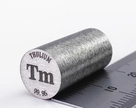 Thulium metal rod 99.99%  14.7 grams