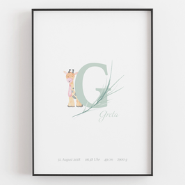 "Personal ABC Print ""G"""