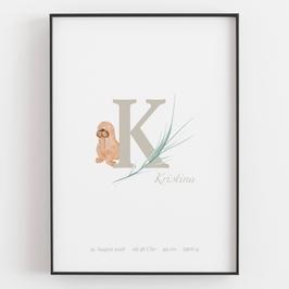 "Personal ABC Print ""K"""