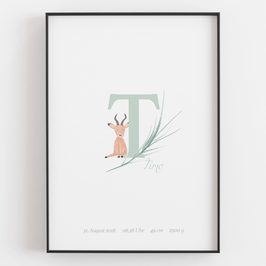 "Personal ABC Print ""T"""