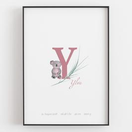 "Personal ABC Print ""Y"""
