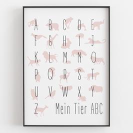 """TIER-ABC"" in verschiedenen Farben"