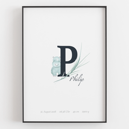 "Personal ABC Print ""P"""
