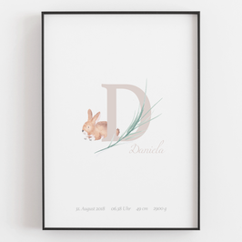 "Personal ABC Print ""D"""