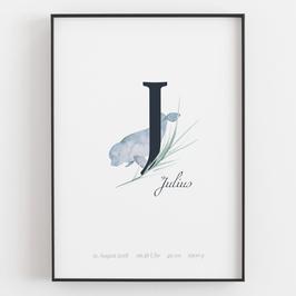 "Personal ABC Print ""J"""