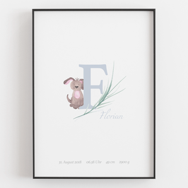 "Personal ABC Print ""E"""