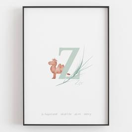 """Personal ABC Print """"Z"""""""