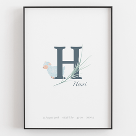 "Personal ABC Print ""H"""
