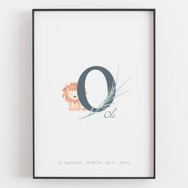 "Personal ABC Print ""O"""