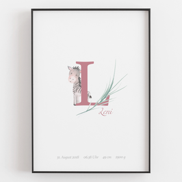 "Personal ABC Print ""L"""
