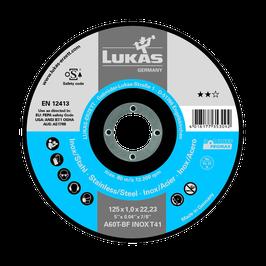 Lukas Trennscheiben A 60 T INOX 115/125x1,0x22,23mm
