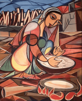 """WOMAN WHO MAKING ARABIC BREAD"" (2014)"