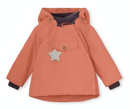 """MINI A TURE Anorak fin pour enfant avec capuche pointue """"Wang"""", aragon red (orange)"""