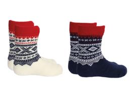 MARIUS KIDS Pack de deux paires de chaussettes fines pour bébé en laine, motif Marius