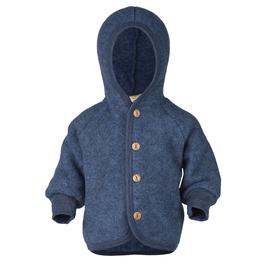 ENGEL Veste bébé à capuche laine polaire, bleu chiné