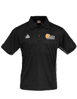 PEAK Polo schwarz mit TS Jahn Logo (optional mit Name)