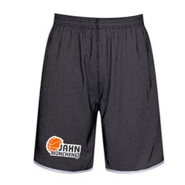 Wendeshorts schwarz-weiß mit TS Jahn Basketball Logo