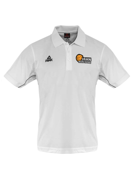 PEAK Polo weiß mit TS Jahn Logo (optional mit Name)