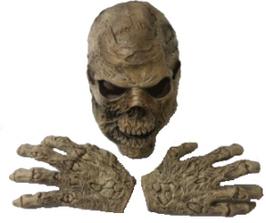 Skelettkopf mit passenden Händen