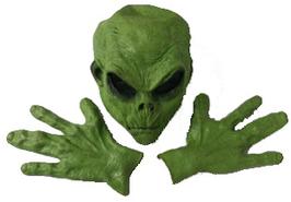 Alien mit passenden Händen grün