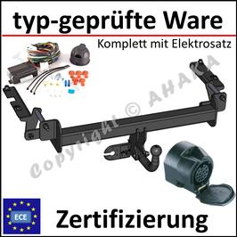 Opel Zafira B Bj. 2005-2011 Anhängerkupplung starr mit geschraubtem Kugelkopf - mit Elektrosatz 13 polig