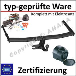 VW Jetta Bj. 2005-2010 Anhängerkupplung starr mit geschraubtem Kugelkopf - mit Elektrosatz 13 polig