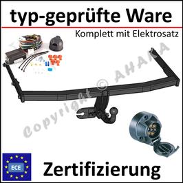 VW Jetta Bj. 2005-2010 Anhängerkupplung starr mit geschraubtem Kugelkopf - mit Elektrosatz 7 polig