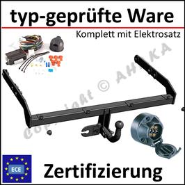 VW Passat B7 Bj. 2010-2014 Anhängerkupplung starr mit geschraubtem Kugelkopf - mit Elektrosatz 7 polig