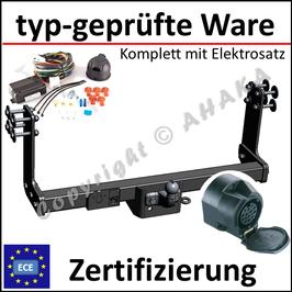 VW Crafter Bj. 2006- Anhängerkupplung starr mit geschraubtem Kugelkopf - mit Elektrosatz 13 polig