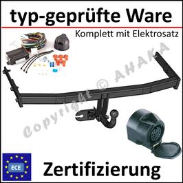 VW Golf V / VI / Plus Bj. 2003- Anhängerkupplung starr mit geschraubtem Kugelkopf - mit Elektrosatz 13 polig