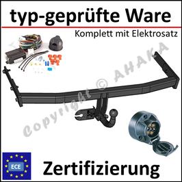 VW Golf V / VI / Plus Bj. 2003- Anhängerkupplung starr mit geschraubtem Kugelkopf - mit Elektrosatz 7 polig