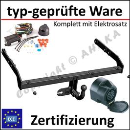VW Passat B7 Bj. 2010-2014 Anhängerkupplung starr mit geschraubtem Kugelkopf - mit Elektrosatz 13 polig