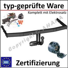 VW Touran Bj. 2003- Anhängerkupplung starr mit geschraubtem Kugelkopf - mit Elektrosatz 7 polig