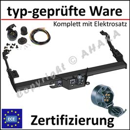 Opel Vivaro Bj. 2001-2014 Anhängerkupplung starr mit geschraubtem Kugelkopf - mit Elektrosatz 7 polig