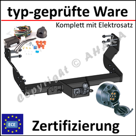 VW Crafter Bj. 2006- Anhängerkupplung starr mit geschraubtem Kugelkopf - mit Elektrosatz 7 polig