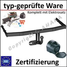 VW Touran Bj. 2003- Anhängerkupplung starr mit geschraubtem Kugelkopf - mit Elektrosatz 13 polig
