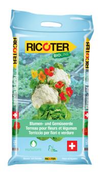 Ricoter Blumen- und Gemüseerde, Bio-Line, 50 Liter