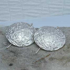 Silber-Ohranhänger bombiert