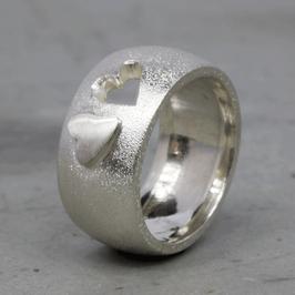 Silber-Ring mit Herz