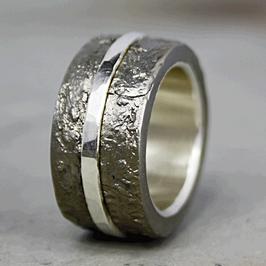 Eisen Silber Ring