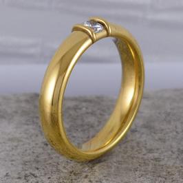 Verlobungsring Gelbgold