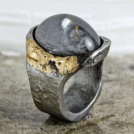 Einzelstück: Eisenring mit Gold