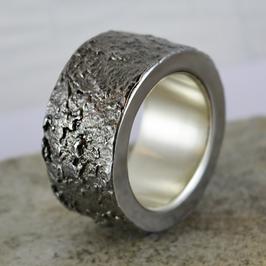 Spezial: Eisen-Ring mit Silber-Innenring