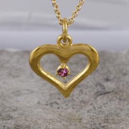 Liebes-Herz aus Gold