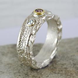 Silber-Ring mit Turmalin und Zirkonen
