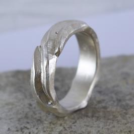 Silber-Ring mit Lebenslinien