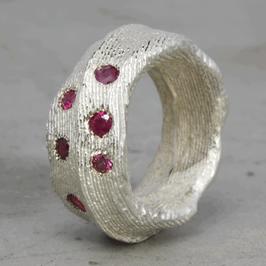 Organischer Silber-Ring