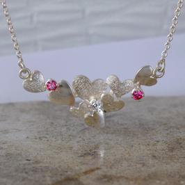 Herz-Silber-Anhänger mit Halskette